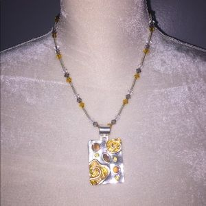 Art Deco Pendent with Swarovski Crystal Necklace